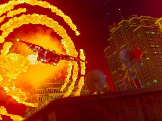 """Lego Batman flies through Gotham City in """"The Lego"""