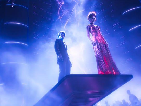Tye Sheridan as Parzival and Olivia Cooke as Art3mis