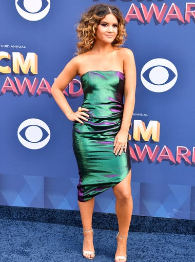 Maren Morris on the red carpet during the 53rd Academy of Country Music Awards at the MGM Grand Garden Arena Sunday, April 15, 2018, in Las Vegas.