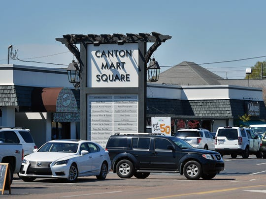 Jackson's Canton Mart Square shopping center will celebrate 50 years of business Saturday.
