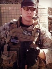 Staff Sgt. Brandon Valentine during an early deployment.