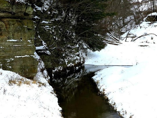 The hole you fish in the summer may not be appealing for trout during the cold days of winter.