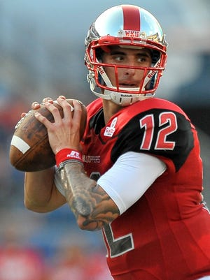 Brandon Doughty's 569-yard passing performance for Western Kentucky against Bowling Green puts him 24th on the FBS all-time list.