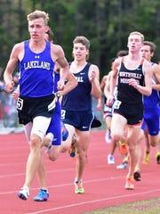 Lakeland's Jackson Grzymkowski (left) won the 800-meter