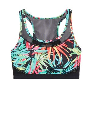 Fabletics, an activewear line co-founded by actress Kate Hudson, is opening in the Kenwood Towne Centre in the fall. Pictured is a tropical sports bra the store sells.