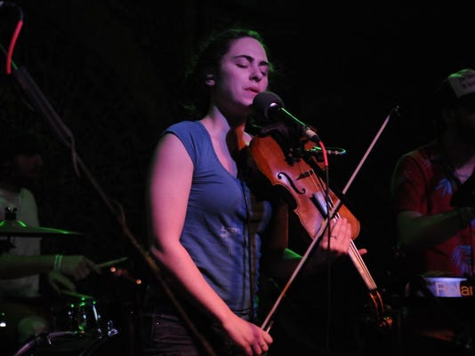 The fiddle player from the Winter Sounds last Saturday
