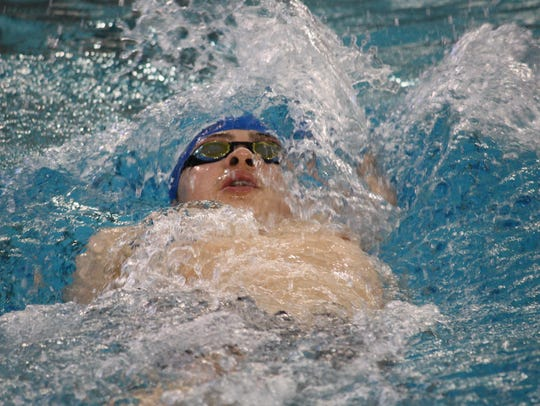 Tindar Cyr competes in the 200 individual medley at Miami University in 2015.