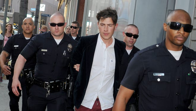 """Ukrainian TV reporter Vitalii Sediuk was arrested at the world premiere of """"Maleficent"""" on May 28 in Hollywood."""