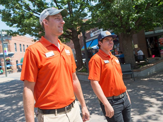 Jake Fraley and Chance Lachowitzer are downtown ambassadors, providing assistance to tourists and business owners in Old Town Fort Collins. The two patrol the area providing maps and advice for shops, dining and visiting Fort Collins.