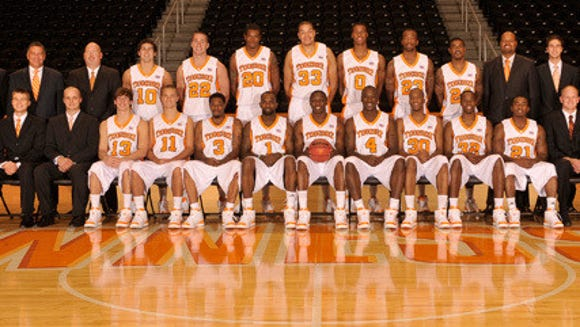 In this 2009-10 team photo of the Tennessee men's basketball