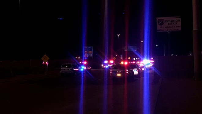 Phoenix police respond to a fatal shooting near Interstate 17 and  Glendale Avenue in April 2017.