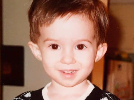 Juli Liske's older son, Dylan White, age 3, in 1992.