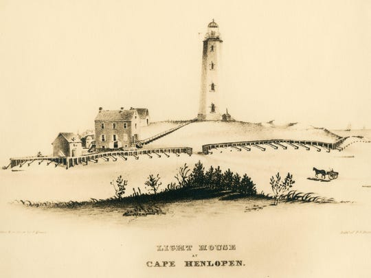 Cape Henlopen Lighthouse. No date.
