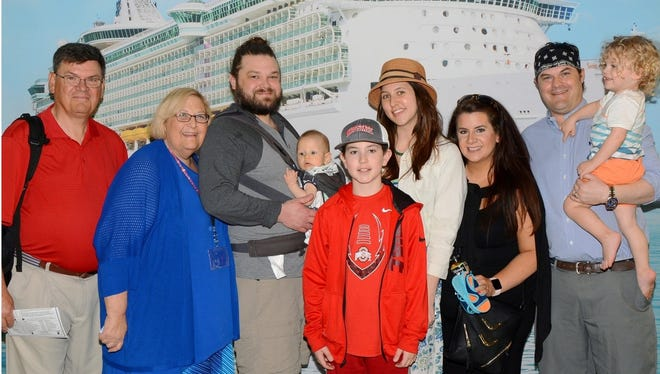 My family, from our recent cruise: Neville, Sherri, Brett and Gardner, Cohen, Olivia, Kinsey, Trey and King.