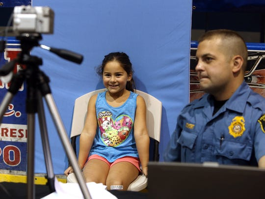 7-year-old Brielle Fraga of Parsippany has her ID photo
