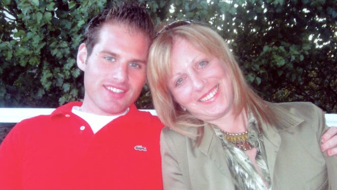 Brian Dursun with his mother Carol Cooper. Dursun died of a drug overdose in July 2016.
