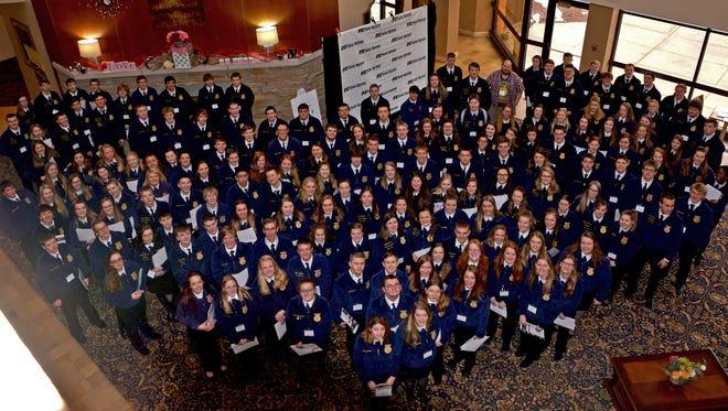 Nearly 200 high school juniors from across Wisconsin attended Wisconsin Farm Bureau's FFA Farm Forum in Wisconsin Rapids, Feb.16-17