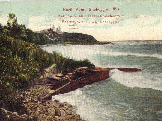 Post card of North Point, Sheboygan.
