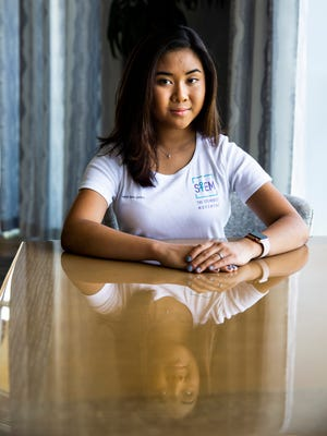 Anabella Maria Galang, 16, poses for a photo at Tiburon Golf Club in Naples on Tuesday, June 12, 2018. Galang, a senior at the Community School of Naples, had her cancer research project approved with a researcher at FGCU and won fifth place in a Florida State Science and Engineering fair, competing with 900 kids around the state.