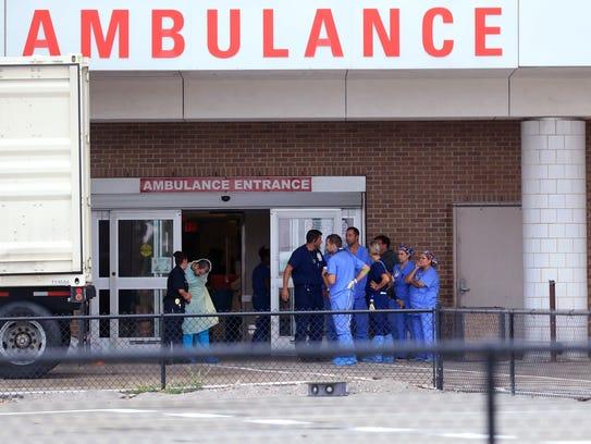 Employees at Christus Spohn Hospital-Shoreline prepare