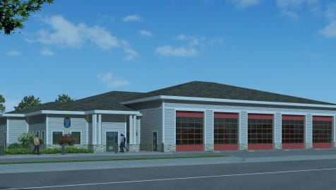 A rendering shows the new public safety facility now under construction in Waterford.