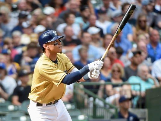 USP MLB: MIAMI MARLINS AT MILWAUKEE BREWERS S BBN MIL MIA USA WI