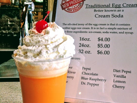 An old-fashioned orange egg cream at the 2017 Indiana