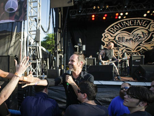 Bouncing Souls frontman Greg Attonito, on stage during