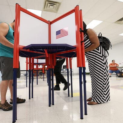Voters casted their primary ballots at the Dawson Orman