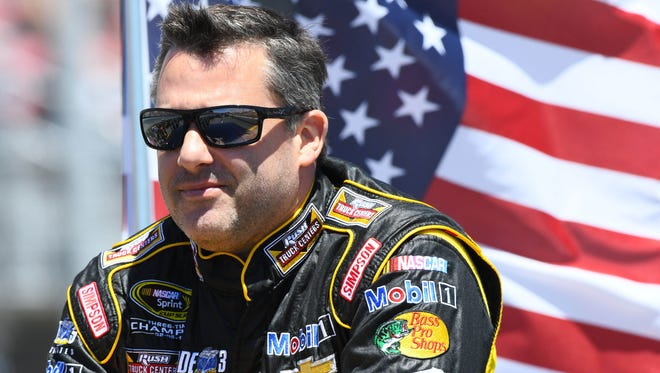 Tony Stewart was inducted into the Sonoma Raceway Wall of Fame on Friday.