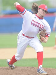 Cooper pitcher Zach Goodson throws a pitch against