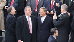 NJ Governor Chris Christie was in attendance, here