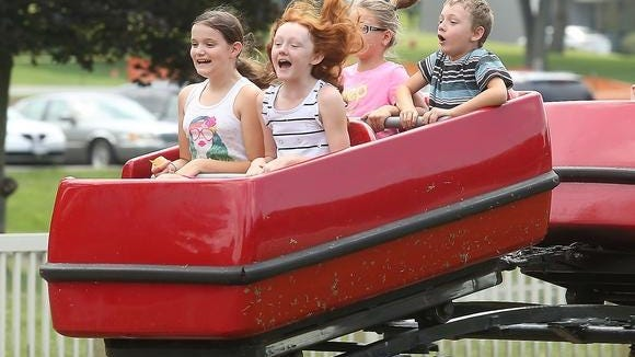 The rides at Tuscora Park are traditionally a big attraction.