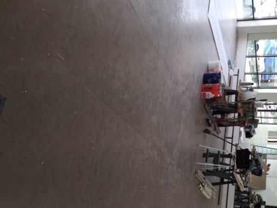 The large studio under construction.
