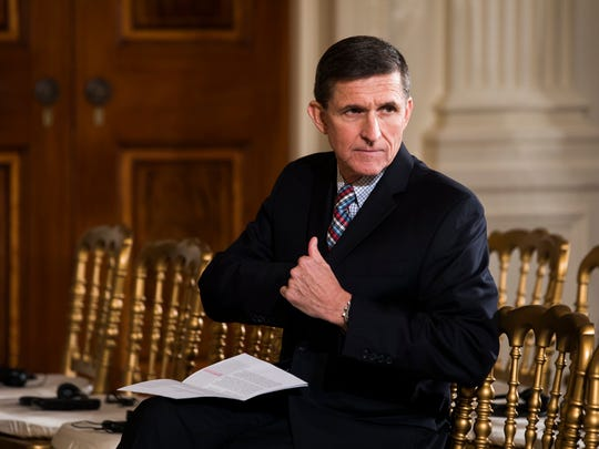A file picture dated Feb. 10 shows Michael Flynn, then