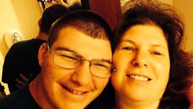 Zachery Briggs and his mother Debra