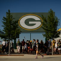Lambeau Field before Thursday's preseason finale between the Green Bay Packers and New Orleans Saints.