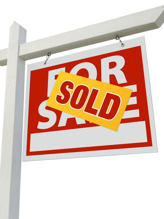 #stock Sold For Sale Real Estate Sign Isolated