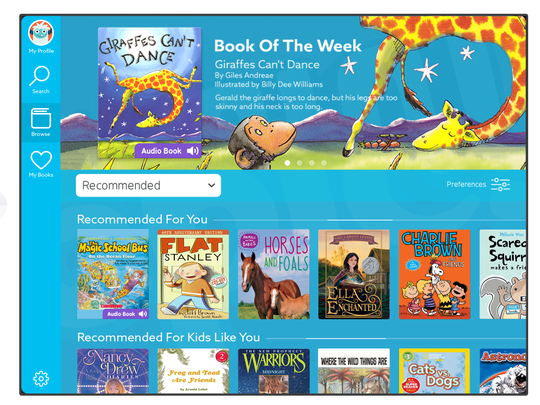 For $7.99/month, kids can have access to many thousands of popular books, from many of the top publishers.
