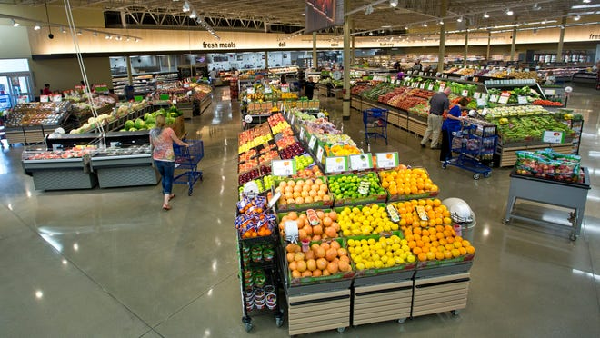 The produce area of the new Meijer store on U.S. 52 West.