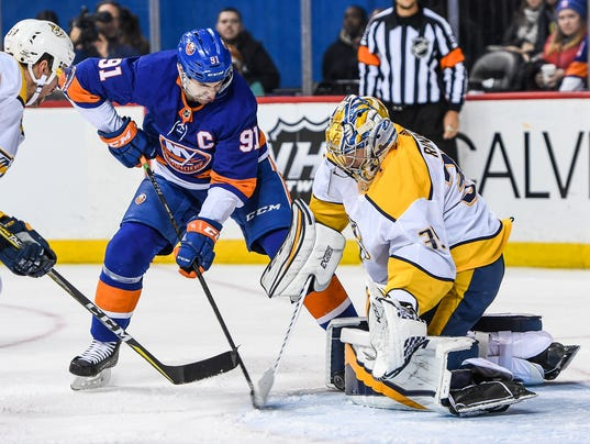 NHL: Nashville Predators at New York Islanders
