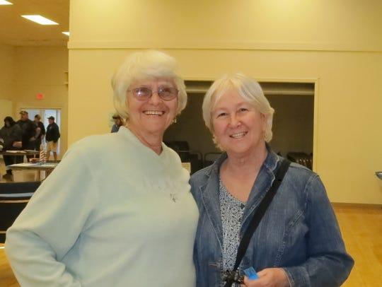 Wanda Tinker (left) and Lynda Puderbaugh, both of Anderson,