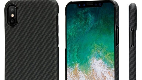 This sleek case is made from aramid fiber.
