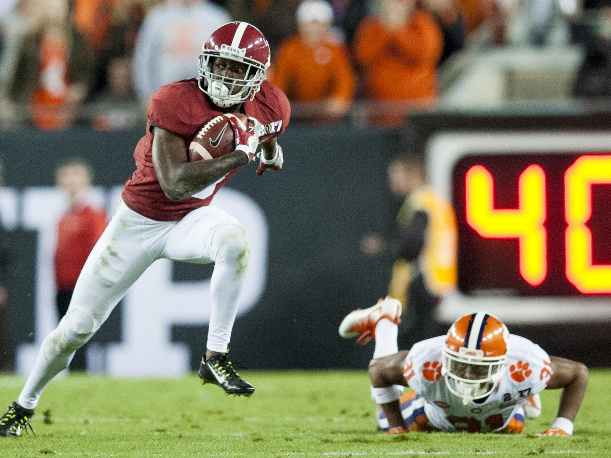 Junior wideout Calvin Ridley leads Alabama's corps of wide receivers.
