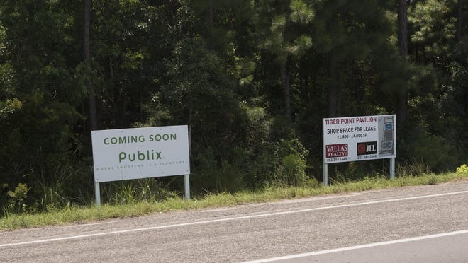 The planned Tiger Point Pavilion development will feature a Publix supermarket.