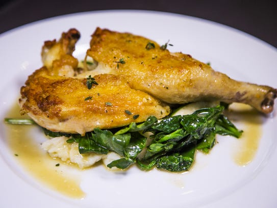 The brick-roasted chicken at Tempe Public Market Cafe,
