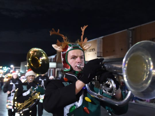 Wilson Memorial High School's marching band takes part