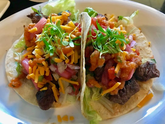 Steak tacos in a soft shell at Jimmy P's in North Naples.