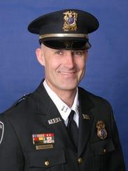 Brett Halderson serves as Menasha's deputy police chief.