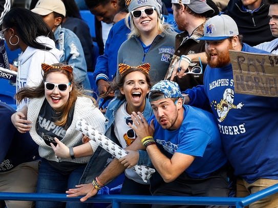 Memphis fans during action against ECU  at the Liberty